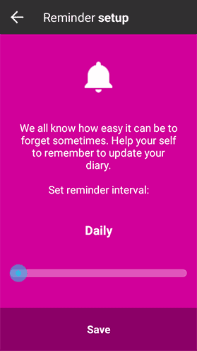 Gumawa at mag-customize ng paalala sa talaarawan.Create a diary reminder.